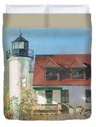 Point Betsie Lighthouse Duvet Cover
