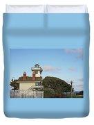 Point Fermin Light - An Elegant Victorian Style Lighthouse In Ca Duvet Cover