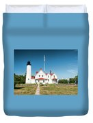 Point Iroquois Lighthouse Duvet Cover
