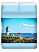 Point Judith Lighthouse Duvet Cover