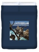 Point Lobos Rocks And Branches Duvet Cover