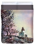Point Loma Lighthouse- San Diego Duvet Cover