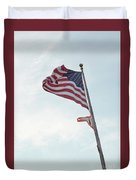 Point No Point American Flag Duvet Cover