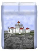 Point No Point Lighthouse Duvet Cover