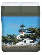Point Pinos Lighthouse Duvet Cover