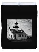 Point Pinos Pacific Grove Lighthouse Duvet Cover