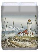 Point Wilson Lighthouse Duvet Cover by James Williamson