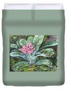 Poison Dart Frog On Bromeliad Duvet Cover