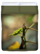 Poisonous Insect Larva Duvet Cover