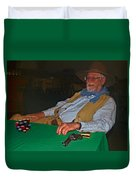 Poker Player Duvet Cover