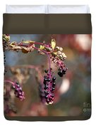 Pokeweed Berries 20121020_129 Duvet Cover