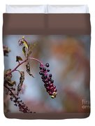 Pokeweed Berries 20121020_134 Duvet Cover