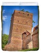 Poland, Torun, Crooked Tower. Duvet Cover