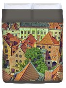 Poland, Torun, Houses. Duvet Cover