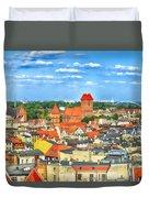 Poland, Torun, Urban Landscape. Duvet Cover