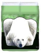 Polar Bear - Green Duvet Cover