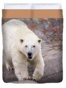 Polar Bear Prowl  Duvet Cover