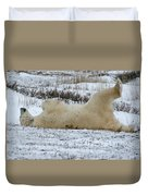 Polar Bear Yoga Duvet Cover