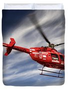 Polar First Helicopter Duvet Cover