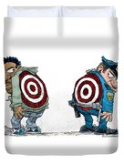 Police And Black Folks Are Targets Duvet Cover
