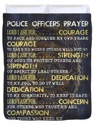Police Officers Prayer Duvet Cover