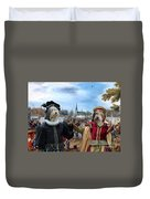 Polish Lowland Sheepdog Art Canvas Print - Prince And Princess Of Orange Duvet Cover