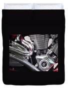 Polished Motorcycle Chrome Duvet Cover