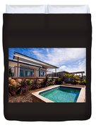 Poll And House With Deck Duvet Cover