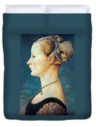 Pollaiuolo: Young Woman Duvet Cover