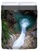 Pollat River Waterfall - Neuschwanstein Castle - Germany Duvet Cover
