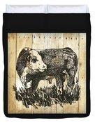 Polled Hereford Bull 11 Duvet Cover