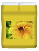 Pollen Feeding Beetle Duvet Cover