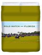 Polo Match Florida Duvet Cover