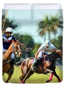 Polo Players And Ponies Duvet Cover