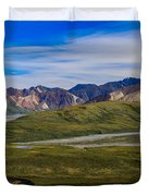 Polychrome Pass Area Denali National Park Four Duvet Cover