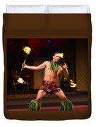 Polynesian Fire Dancing Duvet Cover