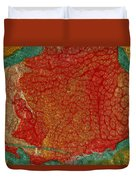 Pomegranate Blossom Abstract Duvet Cover
