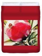 Pomegranate On A Pineapple Stalk Duvet Cover