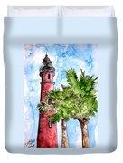Ponce De Leon Inlet Florida Lighthouse Art Duvet Cover