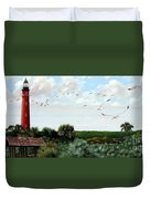 Ponce De Leon Lighthouse Duvet Cover