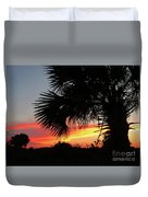 Ponce Inlet Florida Sunset Duvet Cover