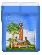 Ponce Lighthouse Duvet Cover
