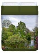 Pond At Buckingham Palace London Duvet Cover