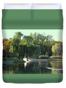 Pond At Mae Stecker Park In Shelby Township Mi  Duvet Cover