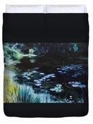 Pond At Port Meirion Duvet Cover