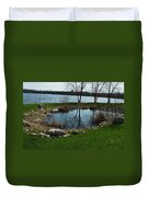 Pond By The Lake Duvet Cover