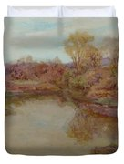 Pond In Early Autumn Duvet Cover
