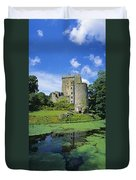 Pond In Front Of A Castle, Blarney Duvet Cover