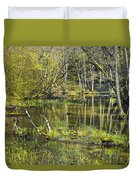 Pond In The Undergrowth. Duvet Cover