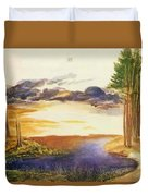 Pond In The Wood Duvet Cover